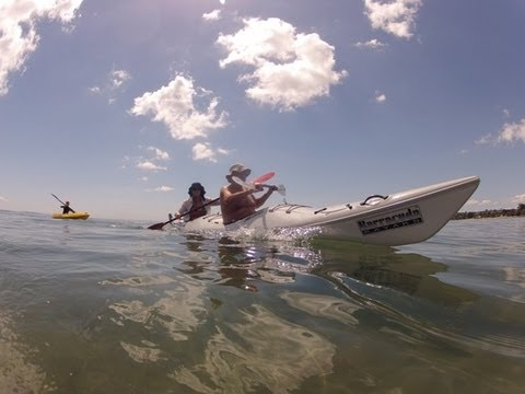 Barracuda Kayaks AR Duo, Wendy & Ross, Stanmore bay, NZ