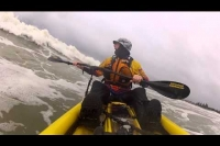 SoT kayak surf, multiple camera angles using 1 GoPro mounted to RAILBLAZA Platform Boom 150