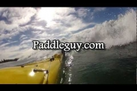 Kayak surf filming multiple angles from one GoPro using RAILBLAZA Boom 150 mount