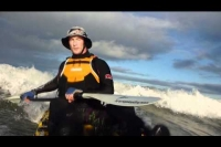 Fishing Kayak surf session Orewa, NZ