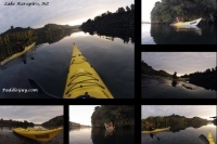 Kayaking on Lake Karapiro, NZ