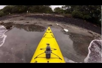 Kayak, run & fish Rangitoto Island training session in the Barracuda duo sea kayak