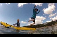 Nephew Jack & Milan Viking Kayaks Espri first paddle Feb 2013