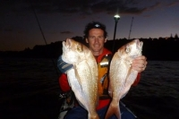 Catching Snapper in my kayak Friday night